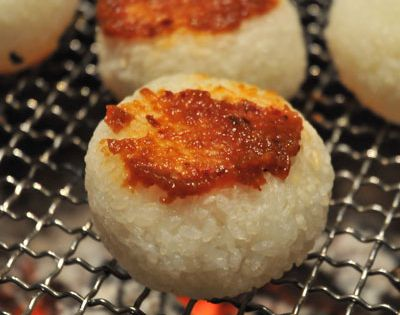 Yaki Onigiri, Grilled Rice Ball with Spicy Miso|焼きおにぎり