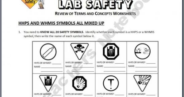 lab safety review worksheets high school science classroom ideas pinterest lab safety. Black Bedroom Furniture Sets. Home Design Ideas