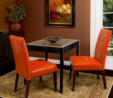 Burnt Orange Dining Room Chairs Burnt Orange Leather Dining Chair Set Of 2 Modern Dining Orange Dining Room Chairs Leather Dining Chairs Dining Chairs