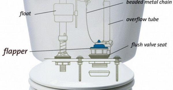 Toilet Parts Identification Chart DIY Home Maintenance