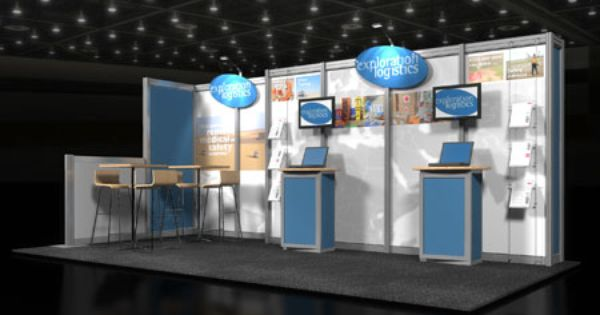 Exhibition Booth Budget : Inline trade show exhibit client name exploration