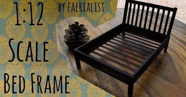 1 12 Scale Bed Frame Faerialist Youtube Diy Dollhouse