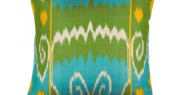 ooh! love it! silk ikat pillow. love these colors. perfect for my