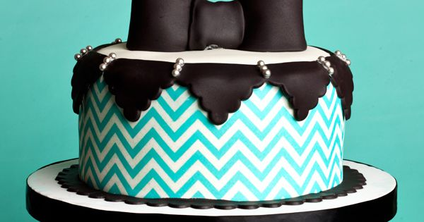 Chevron cake!... so beautiful! definitely going to have this at my party