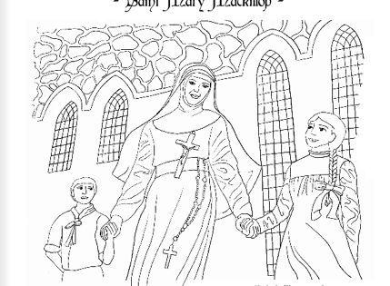 Saint mary mackillop catholic coloring page st mary of for St rose of lima coloring page
