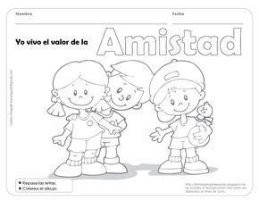 Fichas Para Preescolar Una Forma De Celebrar La Amistad Love Coloring Pages School Themes Preschool Family