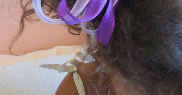 ruban couture organza violet pour petite fille parure de cheveux coiffure noeud rose marque. Black Bedroom Furniture Sets. Home Design Ideas