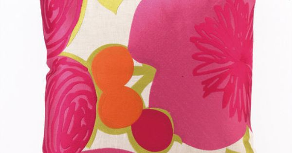 Trina Turk Multi Floral Pillow - Pink | C O L O R + P R I ...