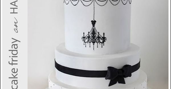 Wedding cake. Black and white elegant