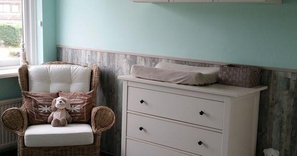 Babykamer mintgroen strand huis pinterest strengen - Babykamer beige en wit ...