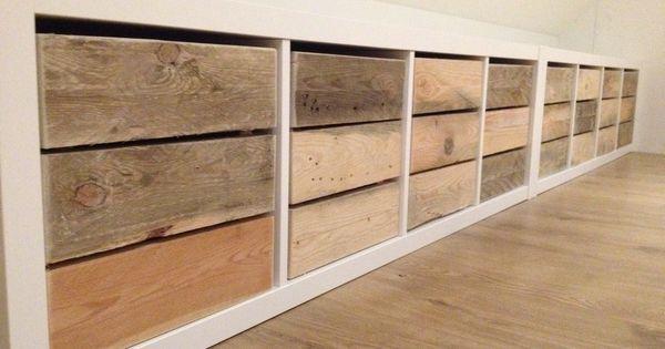 blij met mijn nieuwe bakken van sloophout in kallax expedit van ikea verbouwing zolder. Black Bedroom Furniture Sets. Home Design Ideas