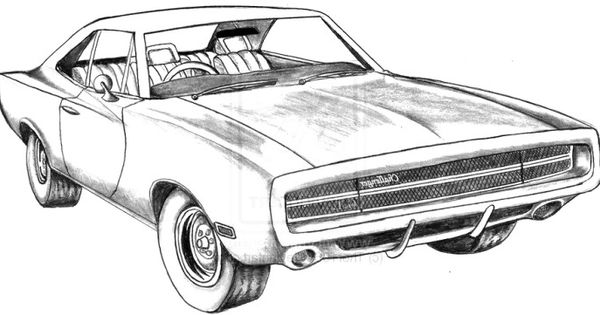 dodge challenger g t coloring page