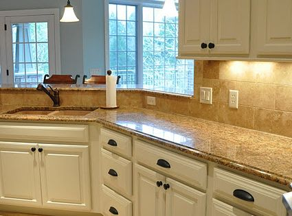 Painted Kitchen Cabinet Makeover Tan Countertops White Cabinets Home Decor At Repinned Net