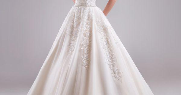 2015 Elegant Ivory A-Line Wedding Dresses Ruffle Sweetheart Sleeveless Zipper Applique Floor