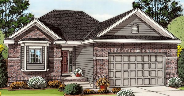 Traditional Style House Plan 2 Beds 2 Baths 1260 Sq Ft Plan 455 202 Exterior Fron Cottage Style House Plans Empty Nester House Plans One Level House Plans