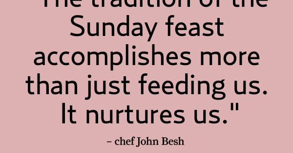 Sunday dinner quote