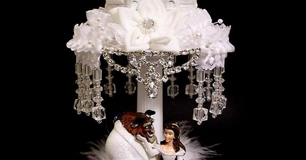 lighted wedding cake toppers lighted and the beast wedding cake topper disney 16868