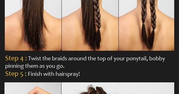 Double Braid Bun Hair Tutorial. Great Hair Style For Twirlers!
