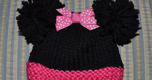 Snood Scarf Knitting Pattern : Free knitting pattern: Minnie Mouse for sizes Micro Preemie through Newborn. ...