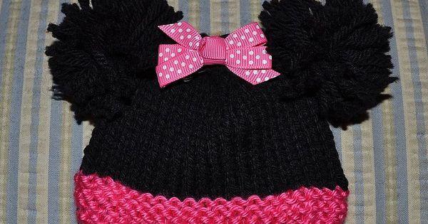 Free knitting pattern: Minnie Mouse for sizes Micro Preemie through Newborn. ...