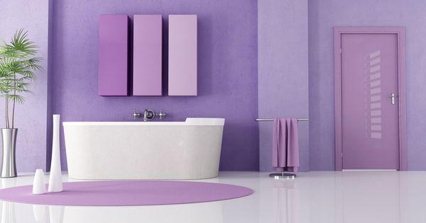 Salle de bain mauve 2 salle de bain mauve pinterest for Carrelage mural salle de bain violet