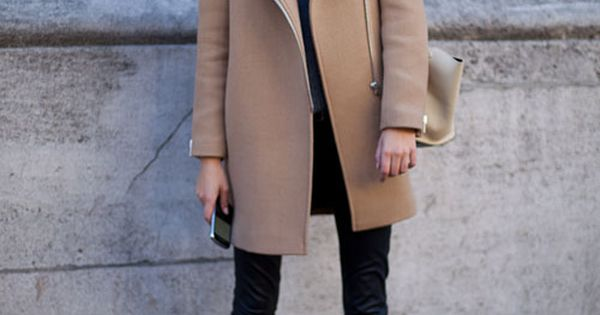 Camel coat Black. Paris Fashion Week. A must have color in your