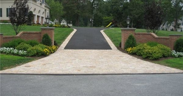 Driveway Design Stone Driveway Concrete Driveways Landscaping Costs