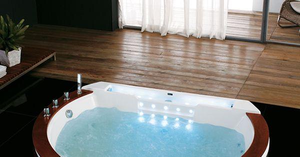 Santorin e baignoire balneo ronde encastrable whirlpool for Baignoire ronde encastrable