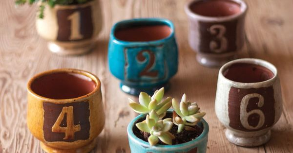 Lil' Numbered Pots