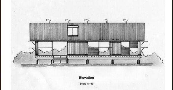 Elevation D Un Plan Archi : Murcutt marika alderton house elevation sketches