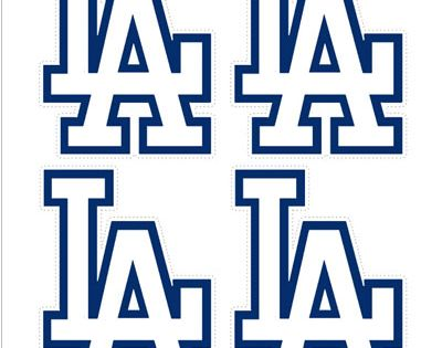 Small Los Angeles Dodgers Logo Cut Outs from ...