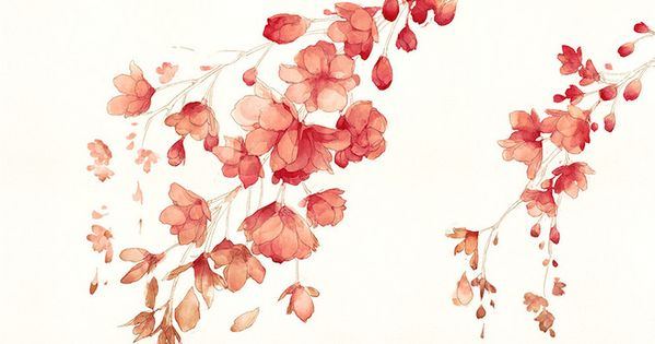 watercolor floral technique ♥
