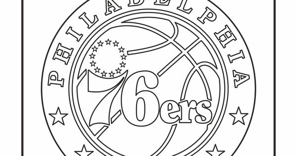 Cool Coloring Pages Nba Teams Logos Philadelphia 76ers
