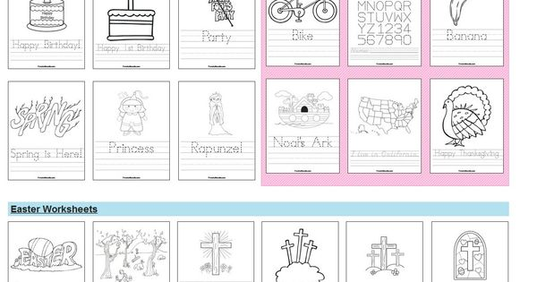 Preschool worksheets.... tons of them! shapes, colors, numbers, letters, seasonal etc.