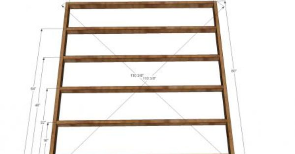 King Size Fancy Farmhouse Bed - box spring support frame ...