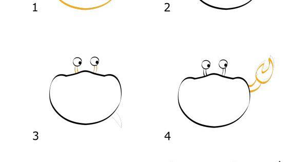 Comment dessiner un crabe doodles journal and drawings - Dessiner un crabe ...