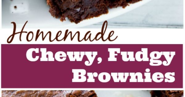 Thick, fudgy, chewy homemade brownies made completely from scratch. You will never