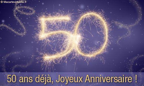 Carte Anniversaire 50 Ans Birthday Cards Happy Birthday