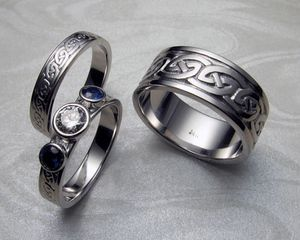 Celtic Wedding Rings Set Viking Wedding Ring Celtic Wedding Ring Sets Mens Wedding Rings