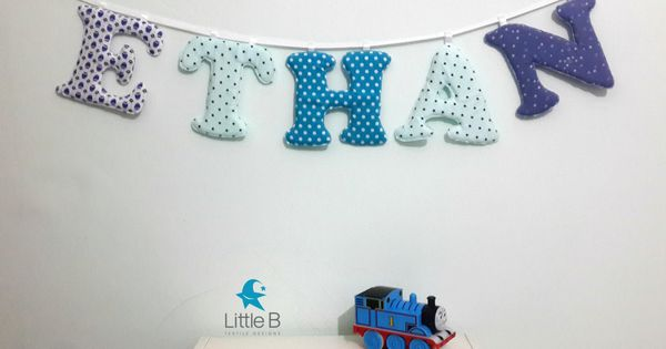 Ethan Name Banner Nursery Wall Letters Boy Nursery