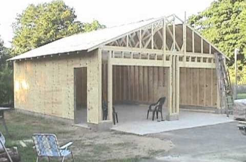 Step by step pictures of me building a 24x24 garage if for Steps to building a house yourself