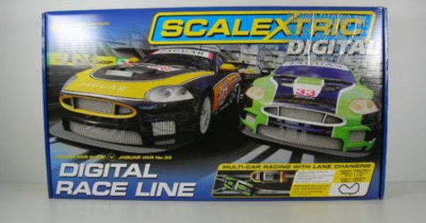 Scalextric Digital Race Line 1 32 Slot Car Set Jaguar Xkr C1275t Slot Car Sets Scalextric Digital Slot Cars