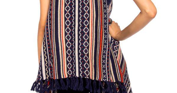 Navajo poncho vest.