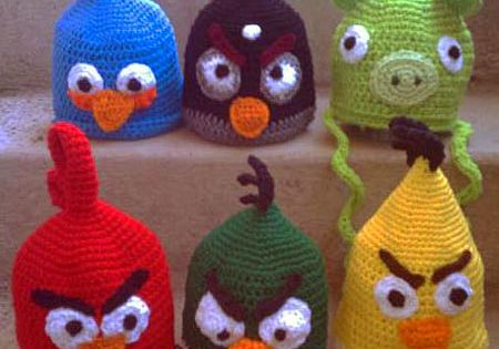 Angry Birds Hat crochet patterns - Rachelle your kids would love these.