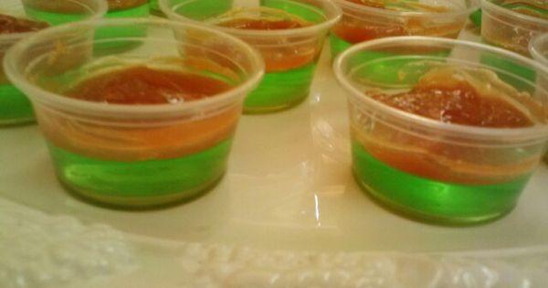 Vodka Jello Cake Recipe: Caramel Apple Jello Shots! Yum! Vodka, Sour Green Apple