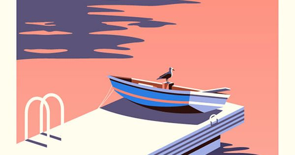 Lovely colour and composition with this great illustration by Malika Favre art