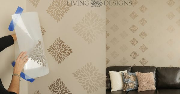 T cnica para pintar paredes con plantillas decorativas a - Tecnica para pintar paredes ...