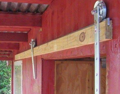 How To Make A Barn Door 3 4 Ft Strips Of Flat Bar 25 X 75 2 Garage Door Pulleys 2 Mending Plates 2 Door Stops 1 Pres Diy Barn Door Barn Door Doors