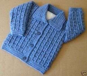 Wool baby boy jumper cardigan Baby boy sweater Hand knit crochet. Crochet baby jacket