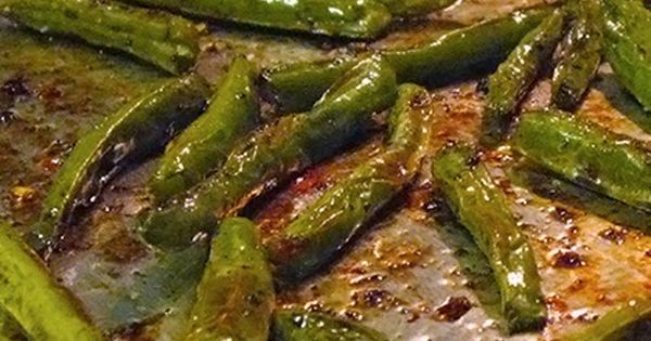 Balsamic Oven Roasted Green Beans